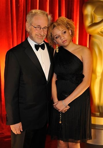 Mikaela-George-Spielberg-with-shes-father-Steven-Spielberg