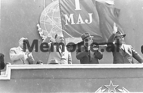 H-Lleshi-E-Hoxha-G-Nushi-dhe-M-Shehu-gajte-festimeve-te-1-Majit.-1962