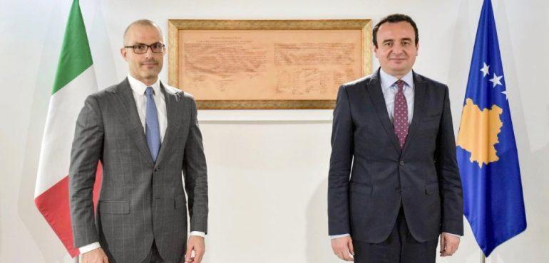 Albin Kurti takon ambasadorin Italian, Orlando